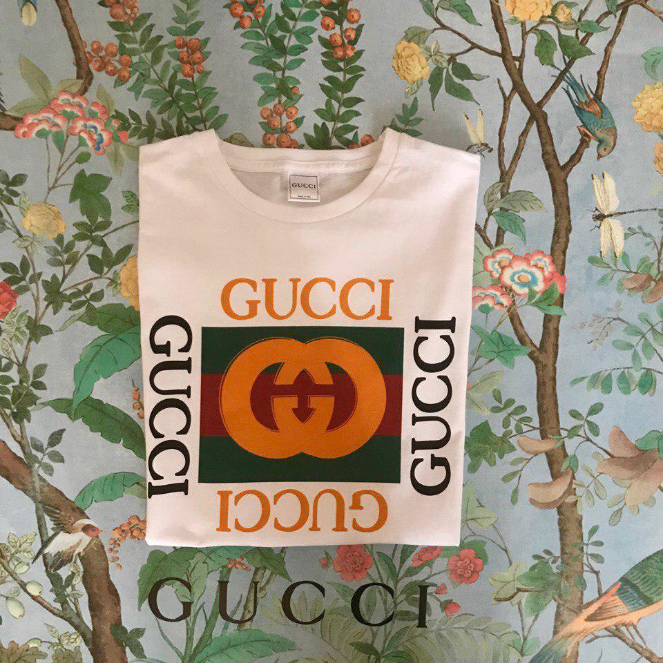 Футболка Gucci, большое лого