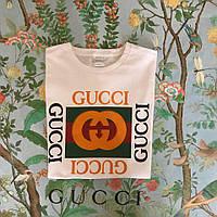 Футболка Gucci, большое лого, фото 1