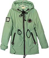"""Куртка подростковая демисезонная """"TAILANG"""" #HL-0865 для девочек. 9-10-11-12-13 лет. Мятная. Оптом., фото 1"""