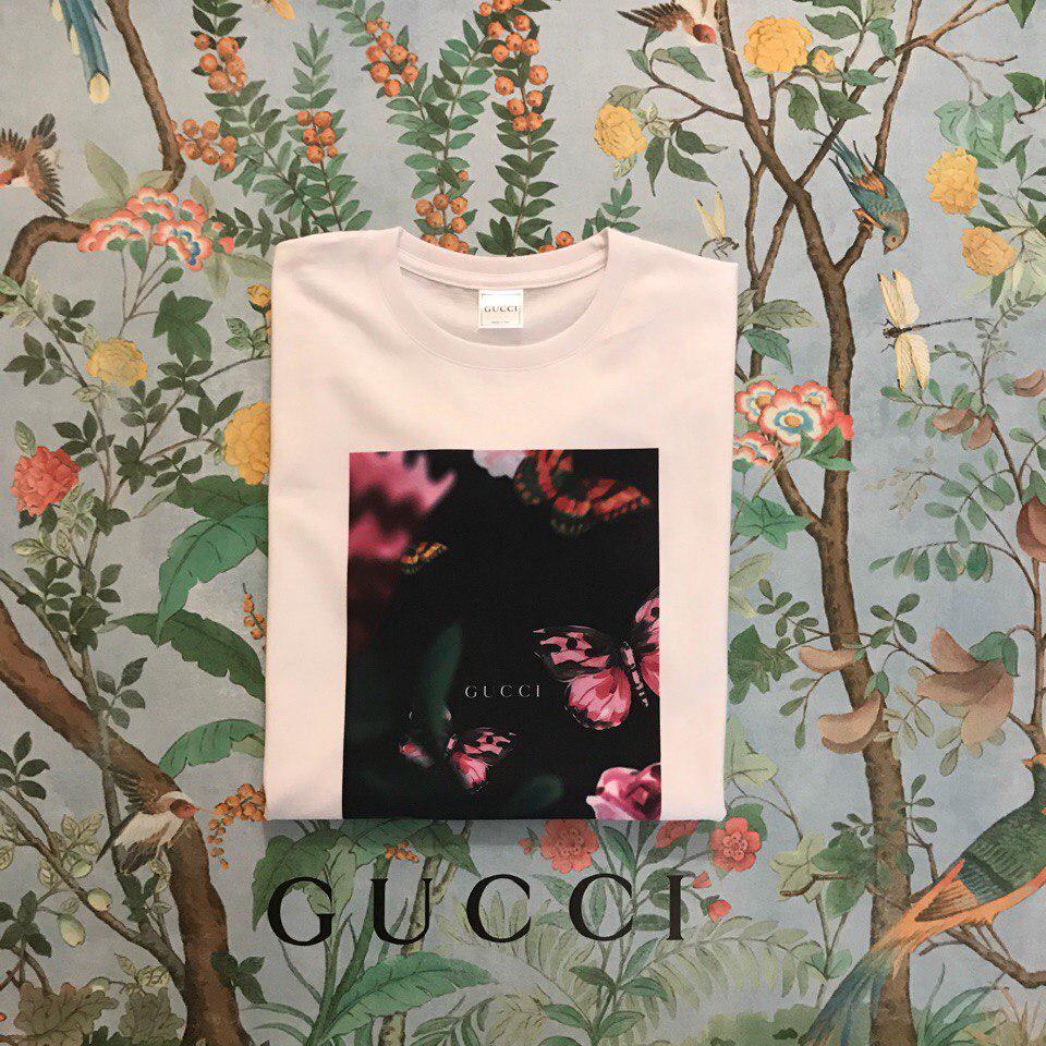 Футболка Gucci, бабочки