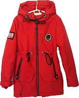 """Куртка подростковая демисезонная """"TAILANG"""" #HL-0865 для девочек. 9-10-11-12-13 лет. Красная. Оптом., фото 1"""