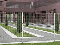 Заборные секции из сварной сетки и комплектация