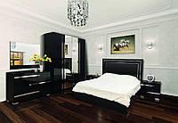 Спальня комплект з ДСП/МДФ 4Д (без матрасу) Екстаза чорна Світ Меблів