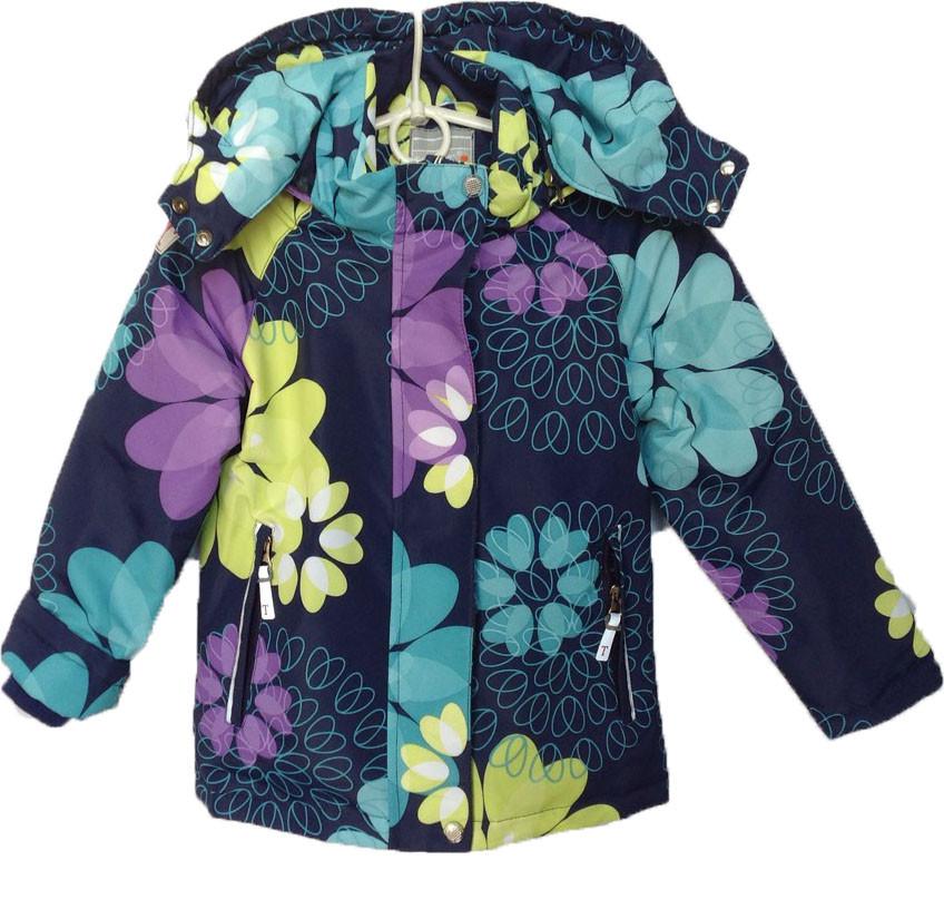 """Куртка детская демисезонная """"TAILANG"""" #HL-0838 для девочек. 5-6-7-8-9 лет. Темно-фиолетовая. Оптом."""