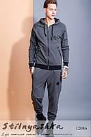 Мужской костюм Philipp Plein с капюшоном графит, фото 1