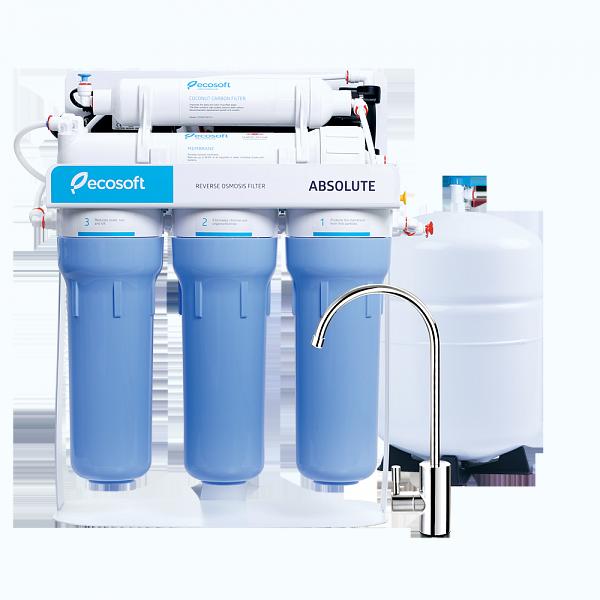 Фильтр для воды обратный осмос с помпой Ecosoft Absolute 5-50P