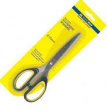 Ножиці Buromax суцільнометалеві, ручки з гумовими вставками, 210мм