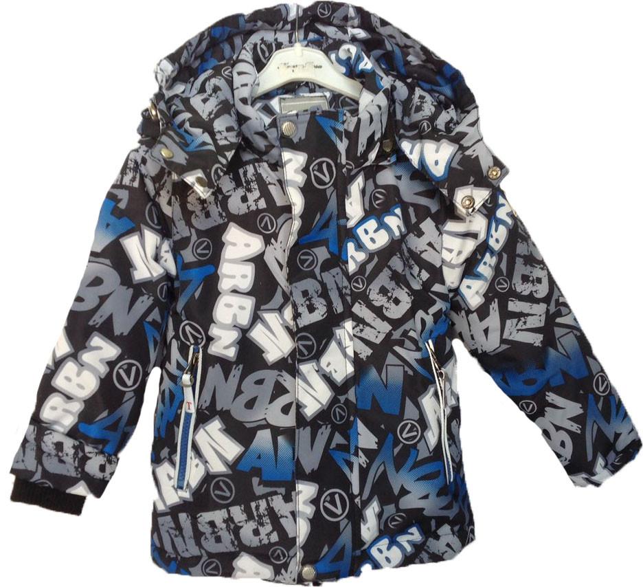 """Куртка детская демисезонная """"TAILANG"""" #HL-0826 для мальчиков. 2-3-4-5-6 лет. Графитная+синий. Оптом."""