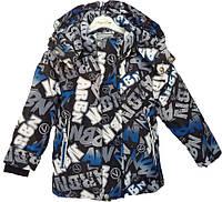 """Куртка детская демисезонная """"TAILANG"""" #HL-0826 для мальчиков. 2-3-4-5-6 лет. Графитная+синий. Оптом., фото 1"""