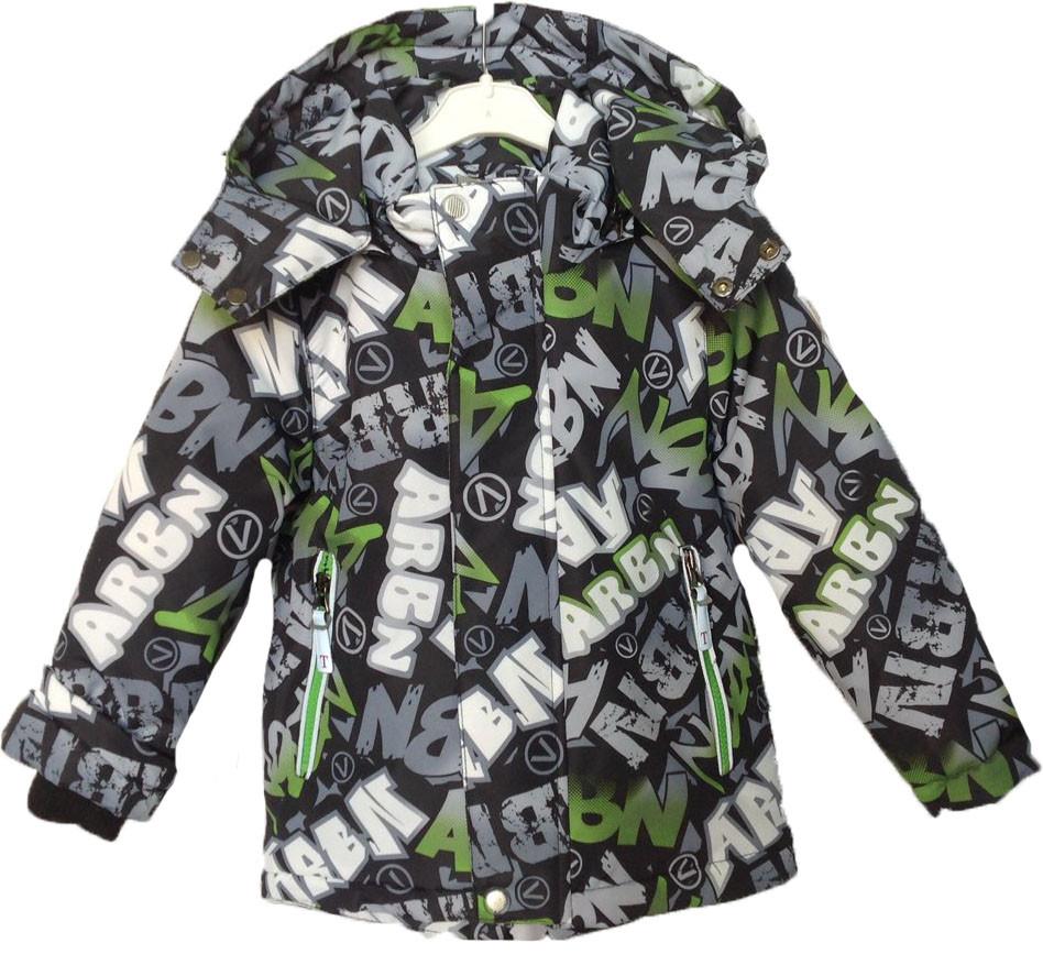 """Куртка детская демисезонная """"TAILANG"""" #HL-0826 для мальчиков. 2-3-4-5-6 лет. Графитная+зеленый. Оптом."""