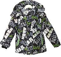 """Куртка детская демисезонная """"TAILANG"""" #HL-0826 для мальчиков. 2-3-4-5-6 лет. Графитная+зеленый. Оптом., фото 1"""