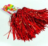 Помпоны болельщика Красные для черлидинга, махалки для группы поддержки, черлидерши