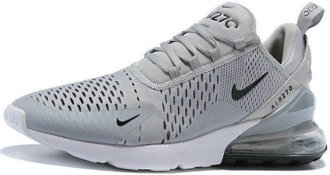 306e92ef Nike Air Max 270 Grey Silver White | кроссовки мужские; летние;  серые/серебристые