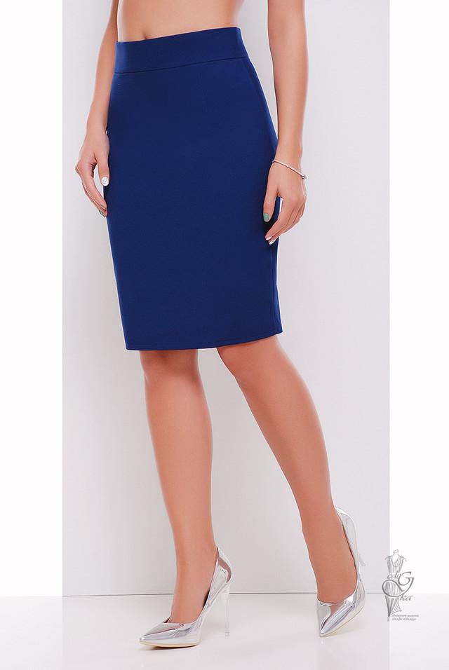 Синий цвет Узкой юбки Пола