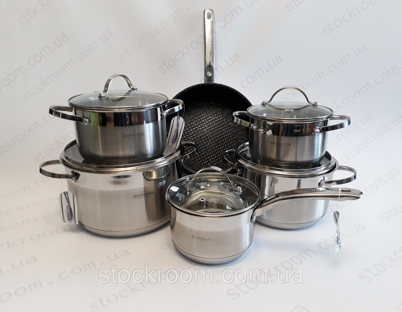 Набор посуды из нержавеющей стали Bohmann BH 1288 MRB