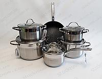 Набор посуды из нержавеющей стали Bohmann BH 1288 MRB, фото 1