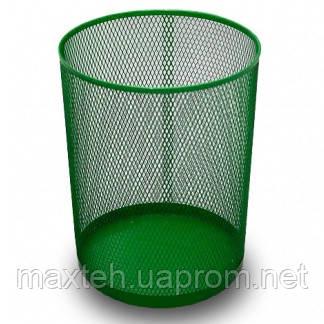 Ажурная корзина для бумаг зелёная