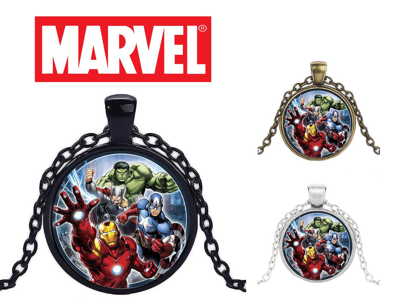 Кулон с изображением всех персонажей Avengers Мстители