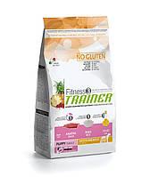 Корм для щенков FitnessTrainer Puppy (Фитнес тренер) средних и крупных пород с уткой и рисом 12,5 кг