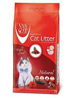 Наполнитель для кошачьего туалета Van cat (Ван кэт) бентонитовый комкующийся натуральный 5 кг