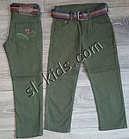 Яркие штаны,джинсы для мальчика 8-12 лет(ромбик оливковые) розн пр.Турция, фото 1