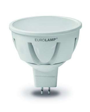 Светодиодная лампа Eurolamp TURBO  LED-SMD-05533  MR16 5W  GU5.3 3000K  12V Код.58914