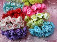 Роза маленькая латексная в букетике с сеточкой (15/12) (цена за 1 шт. + 3 грн.)