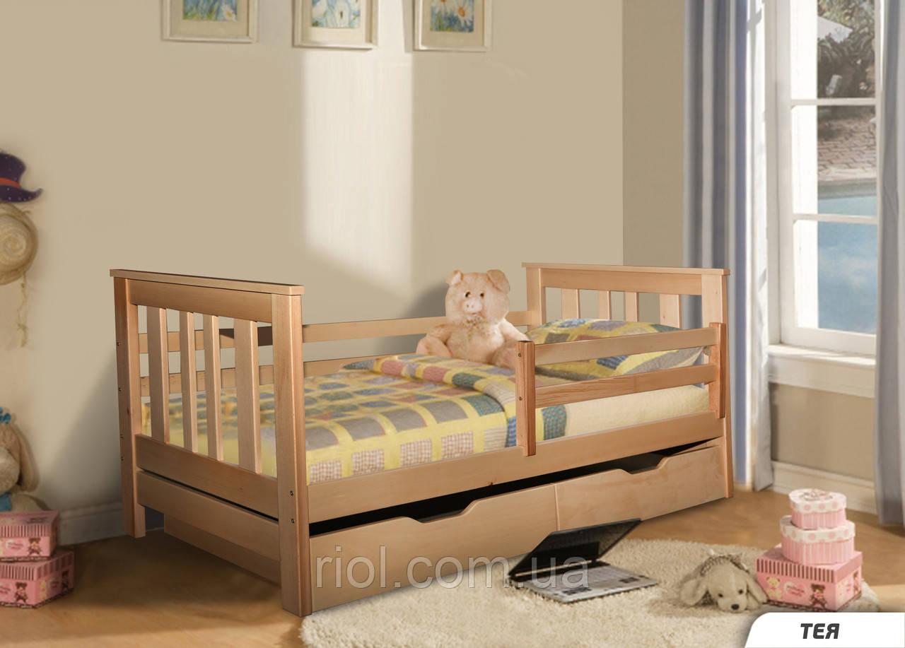 Кровать из массива бука Тея