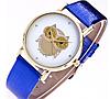 Стильные женские часы сова с синим ремешком, фото 2