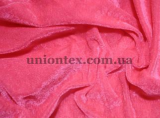 Велюр стрейчевый розовый неон
