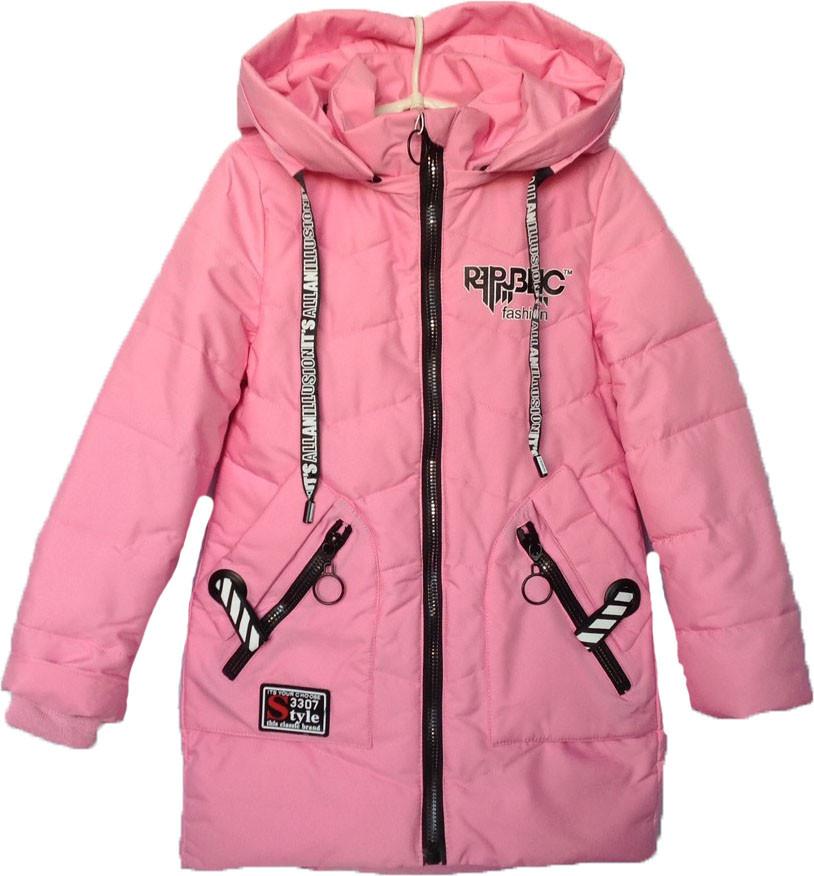 """Куртка подростковая демисезонная """"FSD"""" #816 для девочек. 7-8-9-10-11 лет. Розовая. Оптом."""