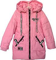 """Куртка подростковая демисезонная """"FSD"""" #816 для девочек. 7-8-9-10-11 лет. Розовая. Оптом., фото 1"""