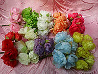 Роза тканевая для скрапбукинга (15/12) (цена за 1 шт. + 3 грн.), фото 1
