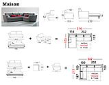 Итальянский раскладной диван с шириной спального места 160 см и контрастным кантом MAISON фабрика ALBERTA, фото 7