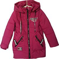 """Куртка подростковая демисезонная """"FSD"""" #816 для девочек. 7-8-9-10-11 лет. Вишневая. Оптом., фото 1"""