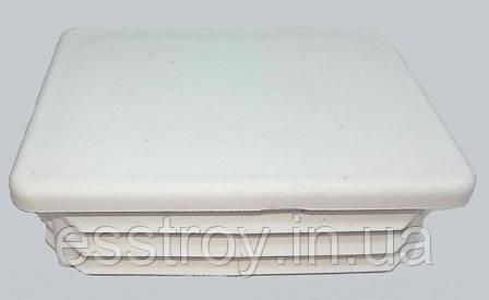 Заглушка профильной трубы  плоская 60*80 Белая, фото 2