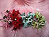 Цветочек  бумажный для скрапбукинга (12/10) (цена за 1 шт. + 2 грн.)