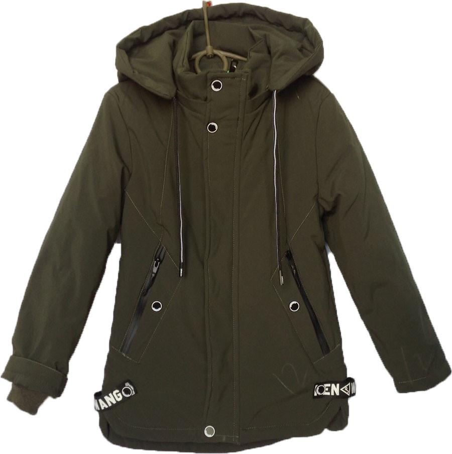 """Куртка детская демисезонная """"is YIQIDA"""" #7816 для мальчиков. 6-10 лет. Зеленая. Оптом."""