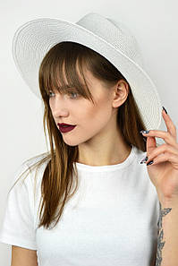 Шляпа федора Боракай белая