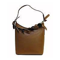 Женская сумка Felicita из натуральной кожи, фабричная,итальянская, рыжего цвета, на одно отделение