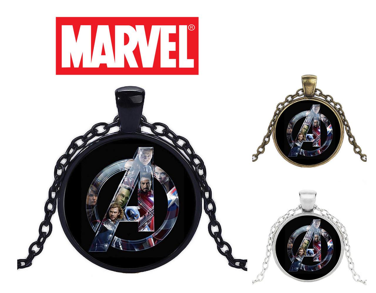 Кулон с изображением с логотипом и персонажами Avengers Мстители