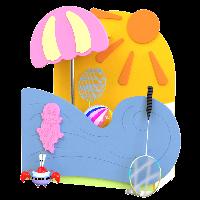 """Нажмите на изображение для перехода в галерею Ящик для игрушек """"Лето"""""""