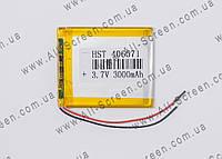 Аккумуляторная батарея для планшета Li-Polymer 3.7V, 3000mAh, 70*60*3мм, фото 1
