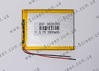Аккумуляторная батарея для планшета Li-Polymer 3.7V, 2800mAh, 90*80*3мм, фото 1