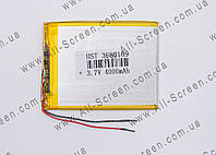 Аккумуляторная батарея для планшета Li-Polymer 3.7V, 4000mAh, 100*80*3,6мм, фото 1
