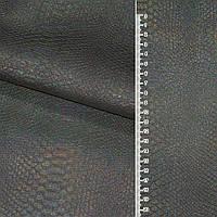 Кожа искусственный серебристая рептилии голограм. ш.145  ткань