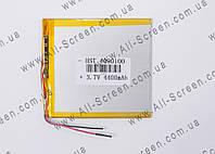 Аккумуляторная батарея для планшета Li-Polymer 3.7V, 4400mAh, 100*90*4мм, фото 1