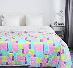 Покрывало на кровать, диван 145х210 хлопковое Мозаика