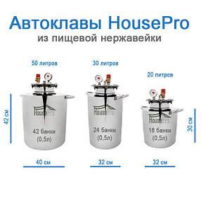Автоклав HousePro из пищевой нержавейки на 42 банки (по 0,5 л), фото 2