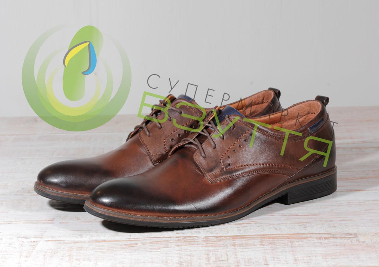 Кожаные мужские туфли Vivaro 615-15к 41,44p